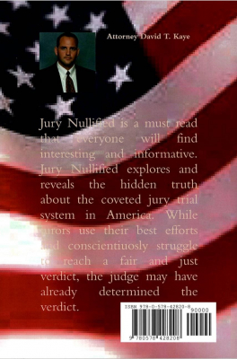 David T. Kaye Diamond Dave author of Jury Nullified